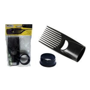 Afrokam voor haardroger, drogen kroeshaar