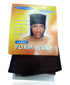 Satijnen turban voor kwetsbaar afrohaar